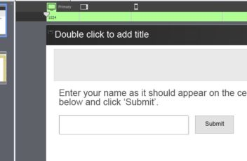 text entry box